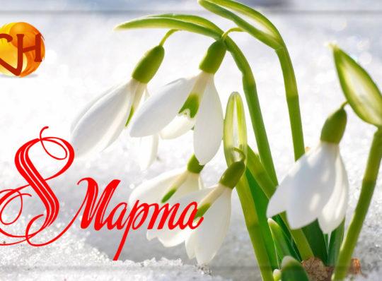 Поздравления с 8 марта и праздничные скидки.
