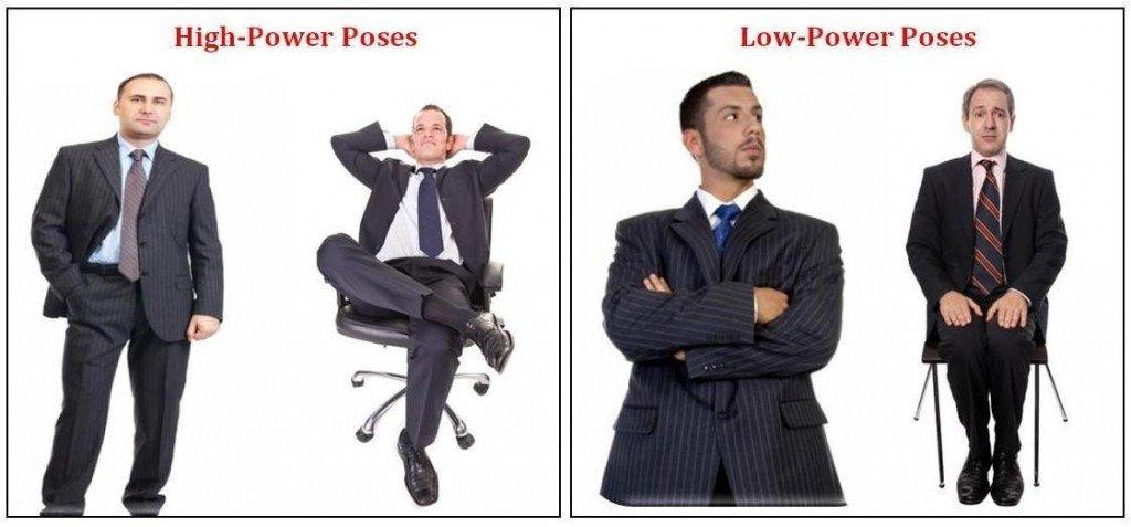 лидерские позы и позы подчинения